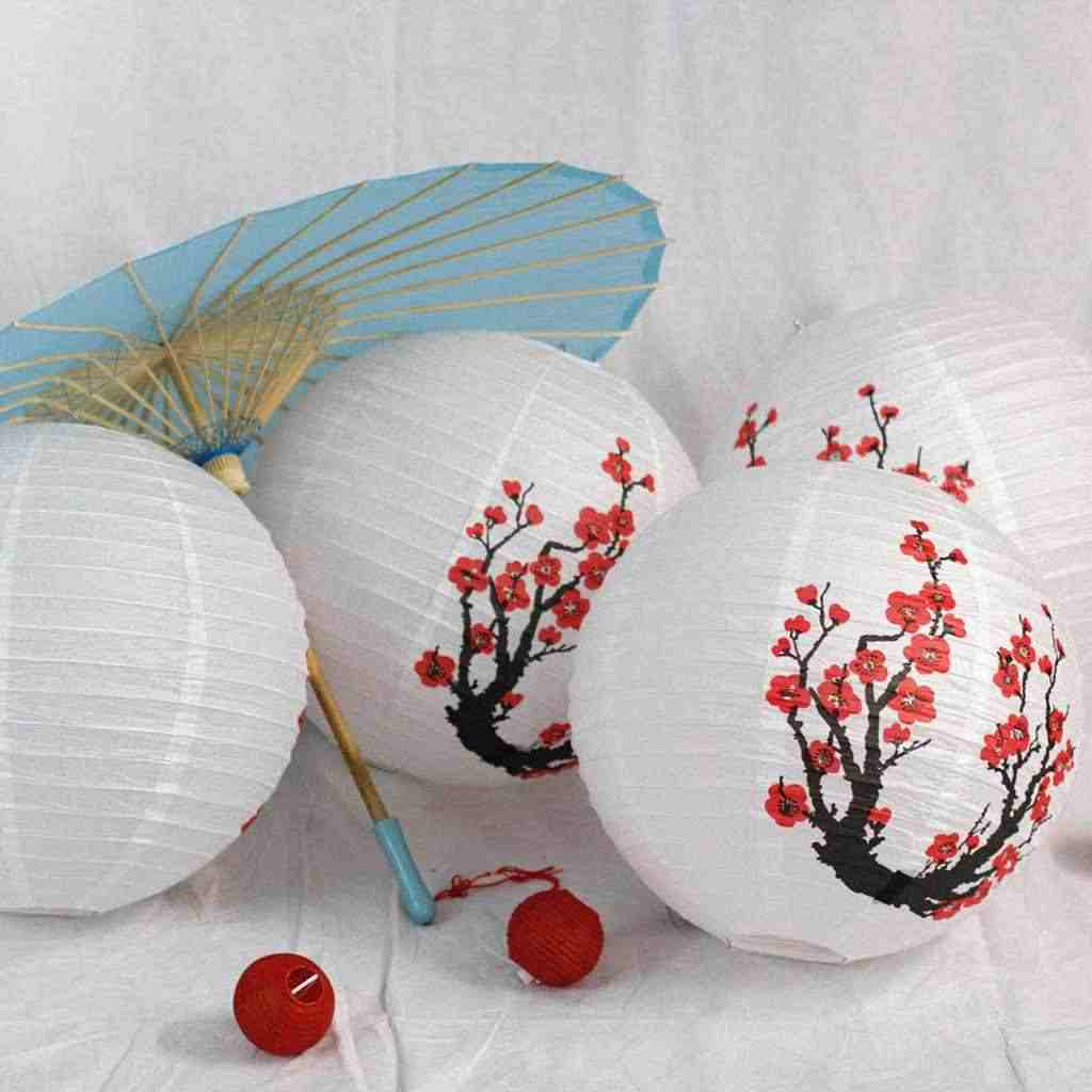 How to Make Japanese Paper Lanterns Craft for Kids Detail Feedback Questions About Set Of 3 Red Sakuracherryflowers