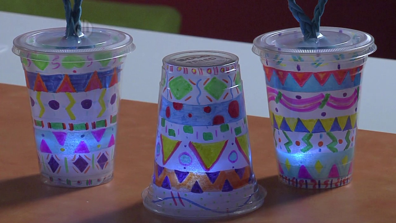 How to Make Japanese Paper Lanterns Craft for Kids Diy Glowing Lanterns Project For Kids Youtube