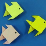 How To Make Paper Craft Fish For Kids How To Make A Paper Fish Easy Origami Fishes For Beginners Making