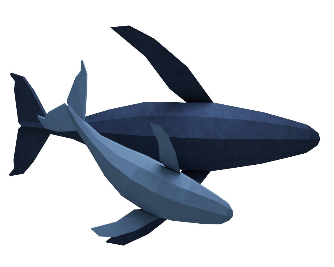 How to Make Paper Craft Fish for Kids Papercraft Whale 3d Family Of Whales Paper Model Paper Etsy