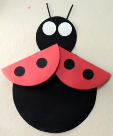 Kids Paper Crafts Diy Cute Ladybird Craft For Toddlers And Preschoolers Easy Paper