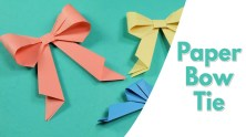Kids Paper Crafts Easy Origami For Kids Paper Bow Tie Simple Paper Craft Idea For