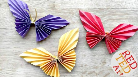 Kids Paper Crafts Easy Paper Butterfly Red Ted Arts Blog