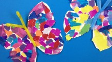 Kindergarten Paper Crafts How To Make A Paper Butterfly Simple Paper Crafts For Kids Youtube
