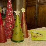 Make Reuse Crafts With Wrapping Paper Leftover Christmas Tree Christmas Cone Trees Diy Christmas Tree Cones Craft