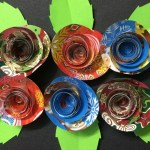 Make Reuse Crafts With Wrapping Paper Leftover How To Make Small Rose Flower With Gift Wrapping Paper Diy Paper