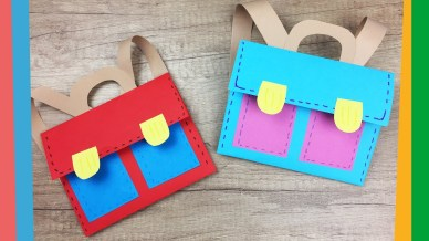 Paper Bag Craft Ideas Back To School Craft Easy Diy Paper School Backpack For Kids Youtube