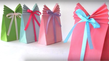 Paper Bag Craft Ideas How To Make Beautiful Paper Gift Bag Paper Bag Origami Papermade