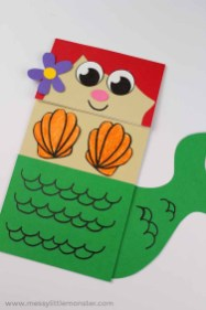 Paper Bag Craft Ideas Mermaid Paper Bag Puppet A Fun Under The Sea Theme Craft Messy