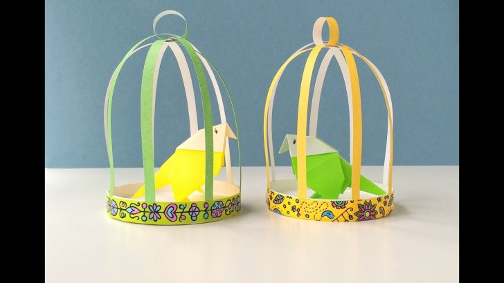 30 Awesome Image of Paper Bird Cage Craft