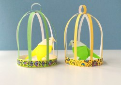 Paper Bird Cage Craft How To Make A Paper Bird Cage Youtube