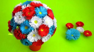 Paper Craft Flowers Bouquet Best Out Of Paper Crafts How To Make Paper Flower Bouquet Very