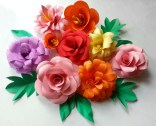 Paper Craft Flowers Bouquet Diy Paper Flowers Folding Tricks 5 Steps With Pictures