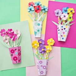 Paper Craft Flowers Bouquet How To Make 3d Paper Flower Bouquets With Video Free Printable Of