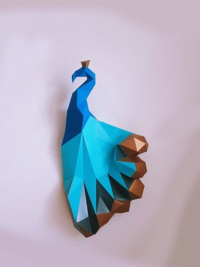 Paper Craft Photos Paper Craft Diy Peacock With Golden Tail Magical Model Peacock