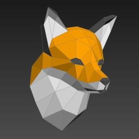 Paper Craft Photos Papercraft Fox Head On Behance