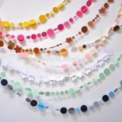 Paper Crafts For Wall Decor Assorted Color 36m 3d Paper Circle Garland Partypaper Crafts Buy