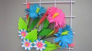 Paper Crafts For Wall Decor Diy Simple Home Decor Wall Decoration Hanging Flower Paper Craft