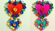 Paper Crafts For Wall Decor Heart Shaped Wall Hanging Out Of Paper Wall Decor Valentines Day