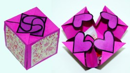 Paper Crafts Ideas Adults Diy Paper Crafts Idea Gift Box Sealed With Hearts A Smart Way To
