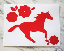 Paper Cutting Crafts Craftiments Chinese New Year Horse Paper Cutting For Kids Horse