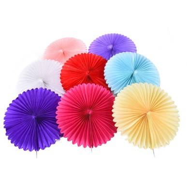Paper Fan Craft For Kids 1pc Tissue Paper Fan 8colors Diy Crafts Hanging Wedding Supplies