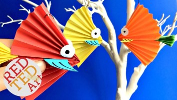 Paper Fan Craft For Kids Paper Fan Fish Craft How To Make A Paper Fish Decoration Paper