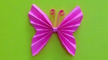 Paper Folding Crafts Instructions How To Make A Paper Butterfly Easy Origami Butterflies For