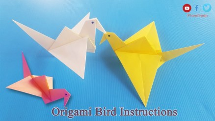 Paper Folding Crafts Instructions Paper Bird Craft Origami 3d Gifts