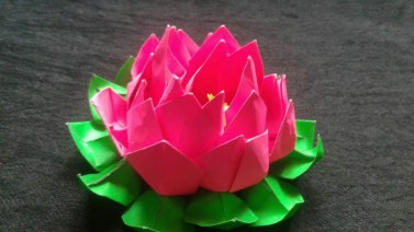 Paper Folding Crafts Instructions Rossy Craft Tube How To Make A Paper Origami Lotus Flower Easy Step