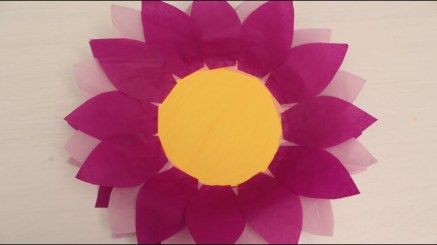 Paper Plates Arts And Crafts How To Make Paper Plate And Tissue Paper Flower Youtube