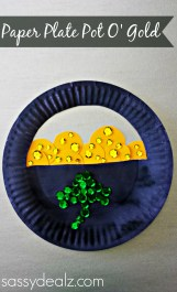 Paper Plates Arts And Crafts Paper Plate Pot Of Gold Craft For St Patricks Day Crafty Morning