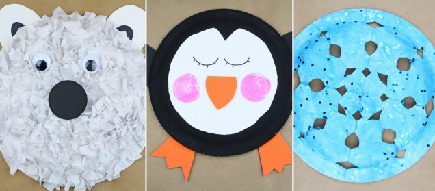 Paper Plates Arts And Crafts Paper Plate Winter Kids Crafts