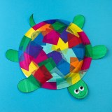 Paper Plates Arts And Crafts Tissue Paper And Paper Plate Turtle Craft