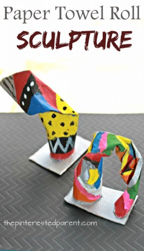 Paper Towel Roll Craft Paper Towel Roll Sculptures The Pinterested Parent