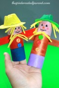 Paper Towel Roll Craft Toilet Paper Tube Scarecrows Craft Projects Crafts For Kids