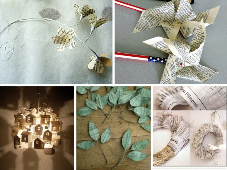 30 Creative Image of Recycled Paper Crafts Ideas