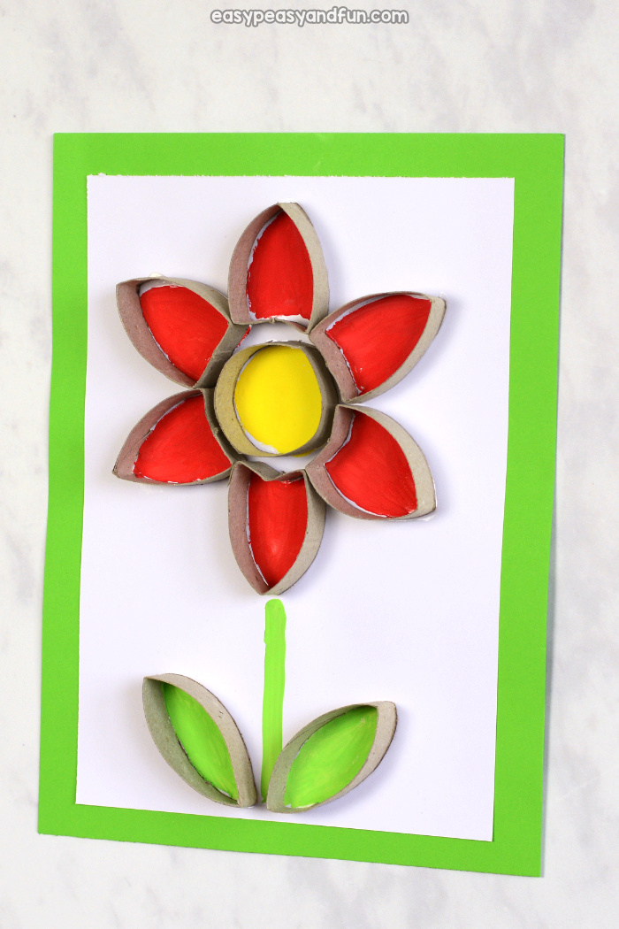 Recycled Paper Towel Tubes Crafts for Kids Flower Toilet Paper Roll Craft Easy Peasy And Fun
