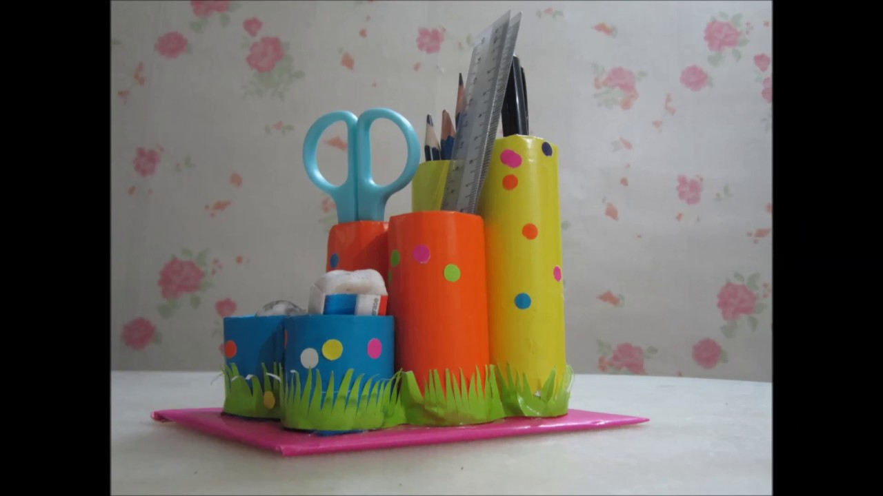 Recycled Paper Towel Tubes Crafts for Kids How To Make A Pencil Holder Out Of A Toilet Paper Roll Back To