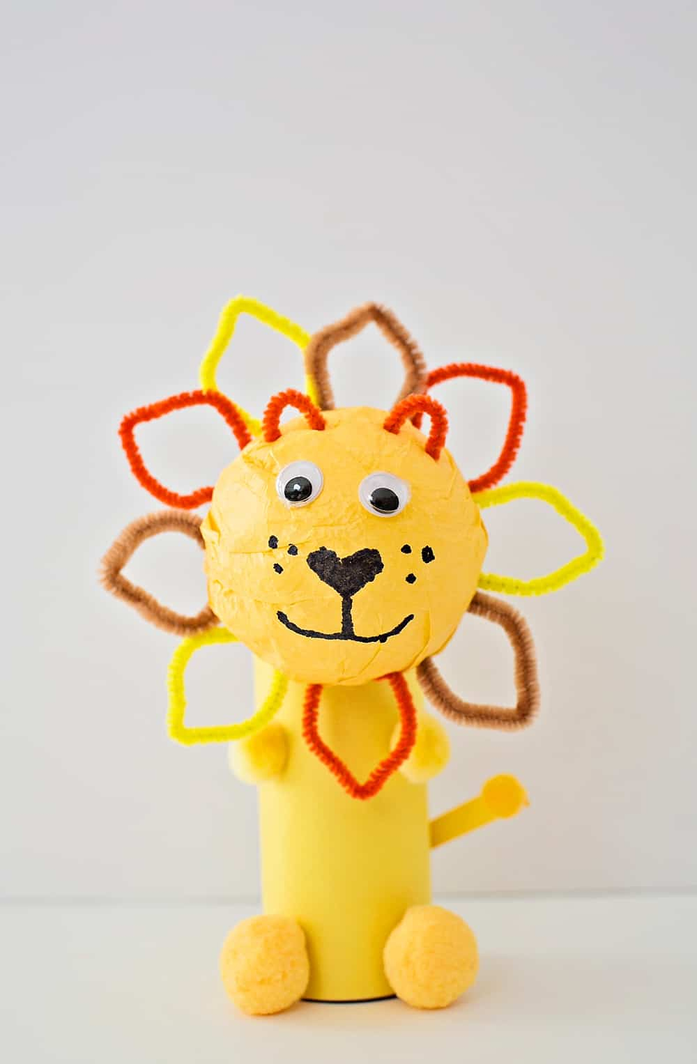 Simple Crafts Using Paper to Add New Accessory at Home Cute Paper Tube Lion Craft Hello Wonderful