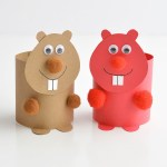 Simple Crafts Using Paper To Add New Accessory At Home How To Make Paper Roll Animals Bears Monkeys Porcupines And More