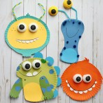 Simple Crafts Using Paper To Add New Accessory At Home Monster Paper Plate Craft Super Simple