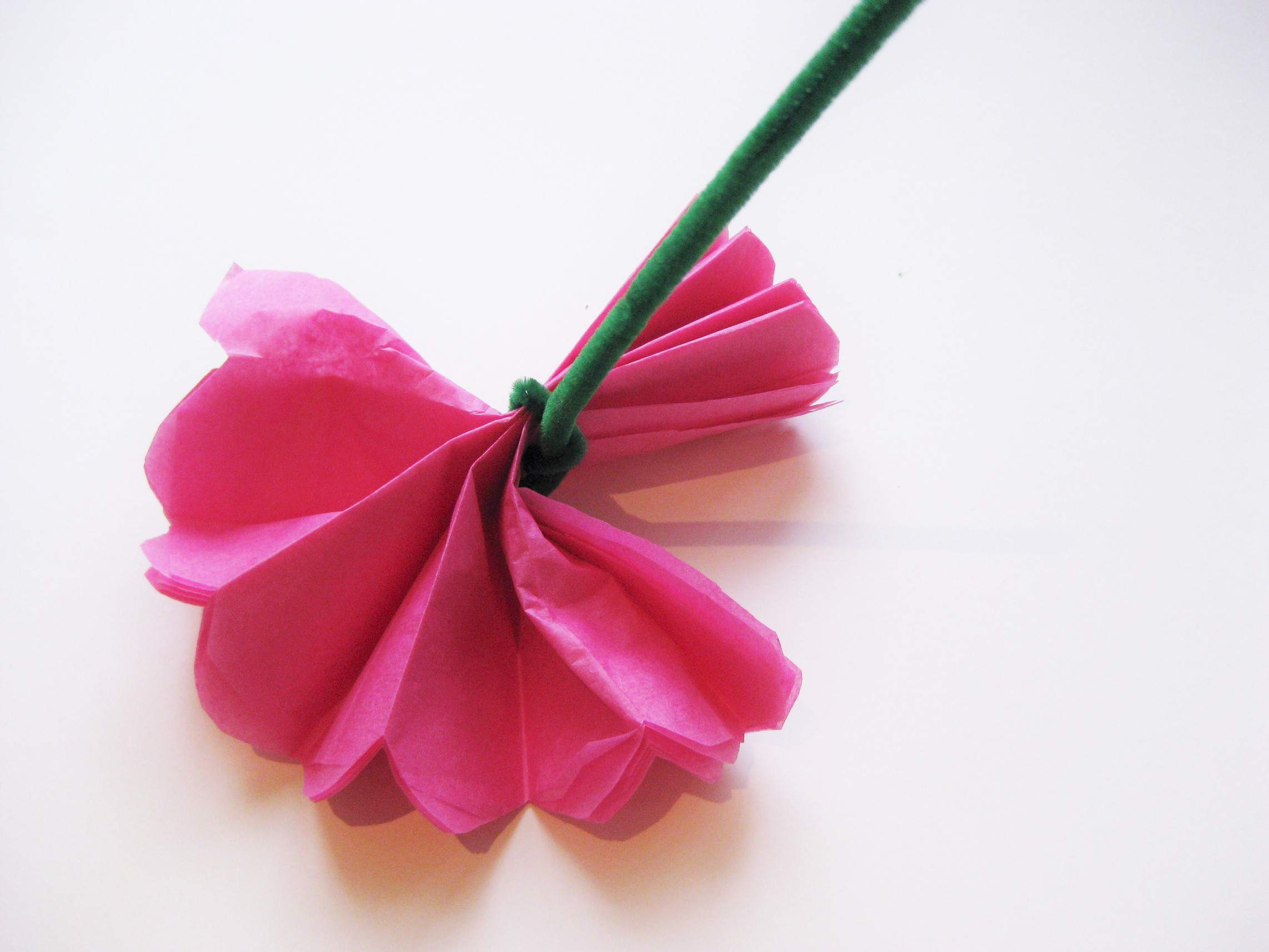 Simple Crafts Using Paper to Add New Accessory at Home Simple Steps To Craft Tissue Paper Flowers
