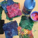 Simple Crafts Using Paper To Add New Accessory At Home Tissue Paper And Starch Tiles Art Projects For Kids