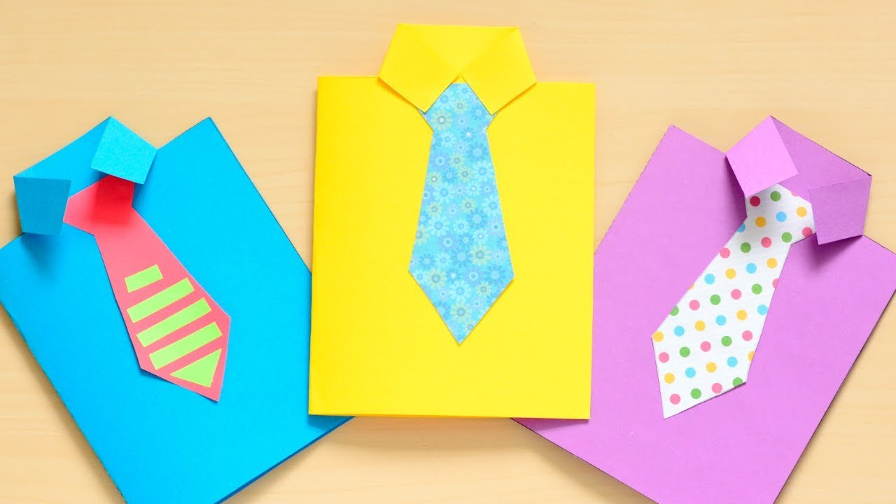Simple paper craft for preschoolers How To Make A Fathers Day Shirt Card Fun Paper Craft For Kids