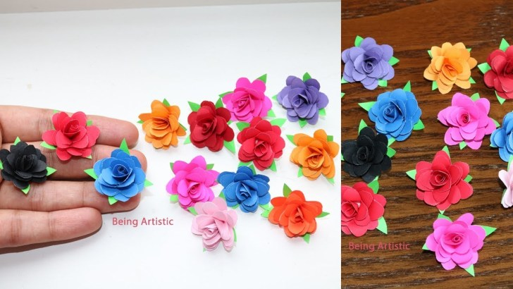33+ Pretty Picture of Small Paper Flowers Craft