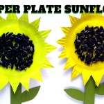 Sunflower Paper Plate Craft How To Make A Paper Plate Sunflower Mothers Day Craft Youtube