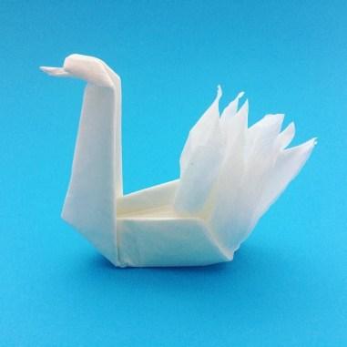 Swan Paper Craft Origami Napkin Swan Origami Swan Napkin Paperswan Origamiswan