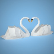Swan Paper Craft Pin Ma Elena On Bordados Paper Paper Crafts My Etsy Shop