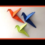 The Simple Paper Crafts For Toddlers Using Scissor Skill Diy Easy Paper Birds Origami Simple Paper Crafts For Kids